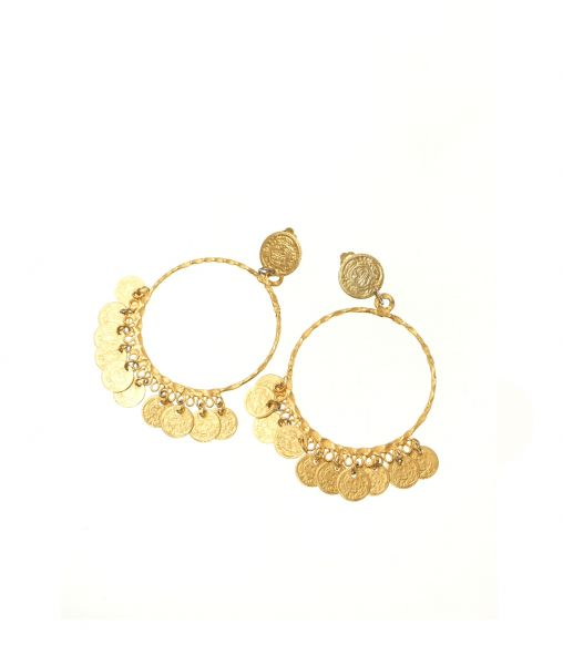 70s gold hoop clip-on earrings