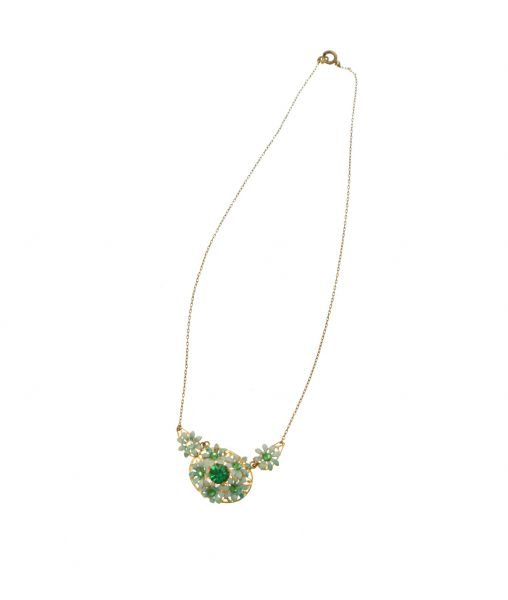Green Vintage Pendant Necklace