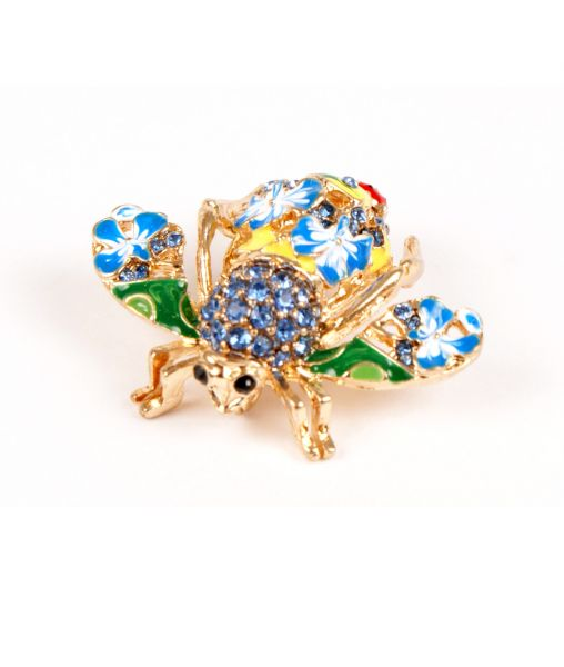 Joan Rivers Bee Brooch Blue