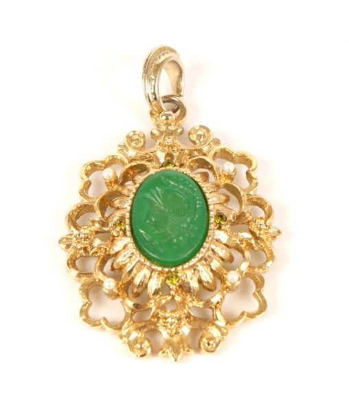 Kenneth Lane Ornate Pendant