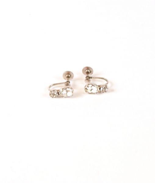 Sherman Screw Back Crystal Earrings