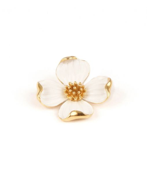 Trifari Dogwood Flower Brooch