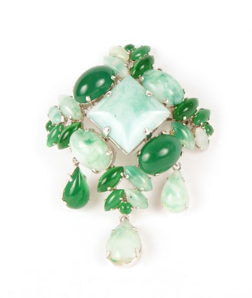Christian Dior Green Brooch 1962