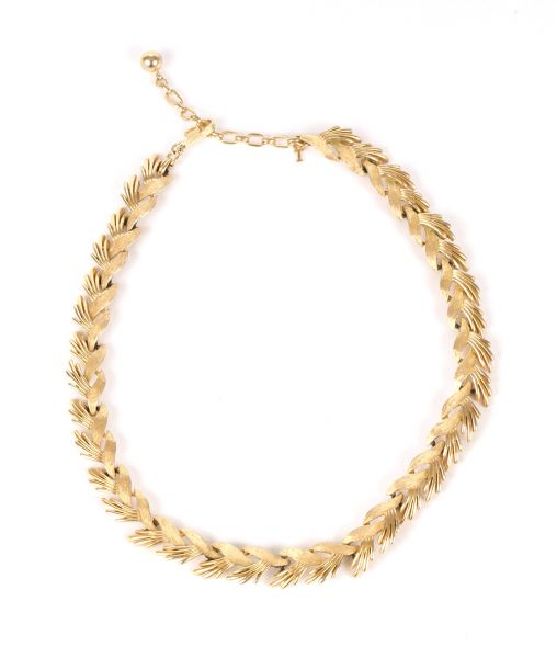 Vintage Crown Trifari Golden Necklace