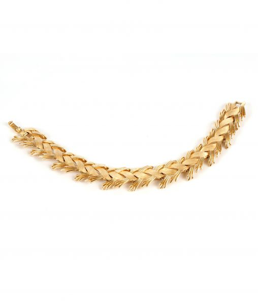 Vintage Crown Trifari Golden Bracelet