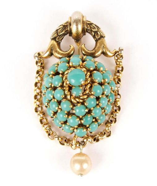 Dior Turquoise Brooch 1964