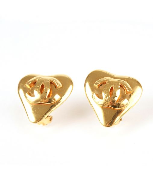 Chanel Heart Earrings 1993