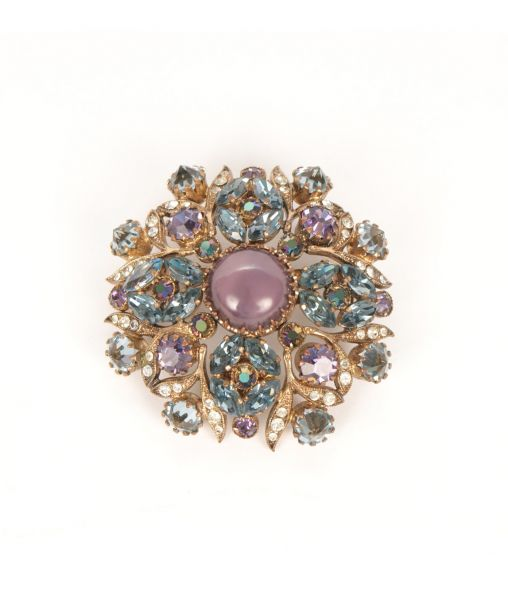 Purple Crystal Brooch By Maryse Blanchard