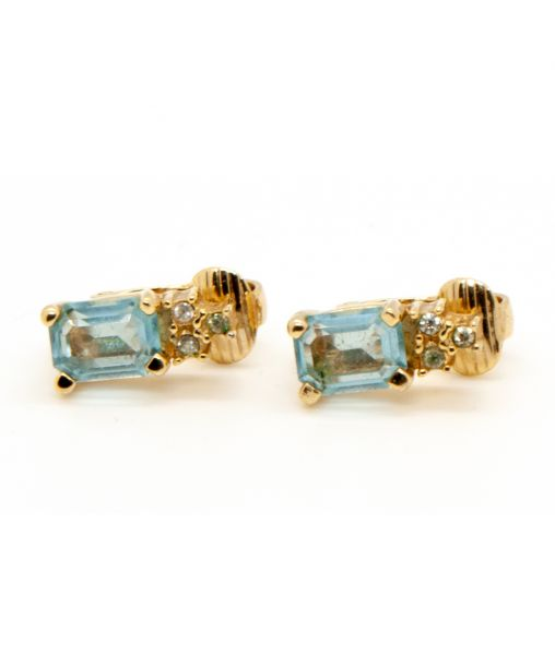Vintage Christian Dior Aquamarine Earrings