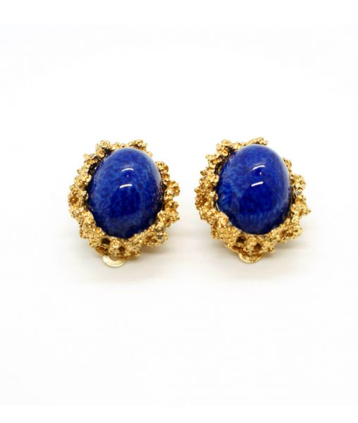 Vintage Panetta Lapis Lazuli Earrings