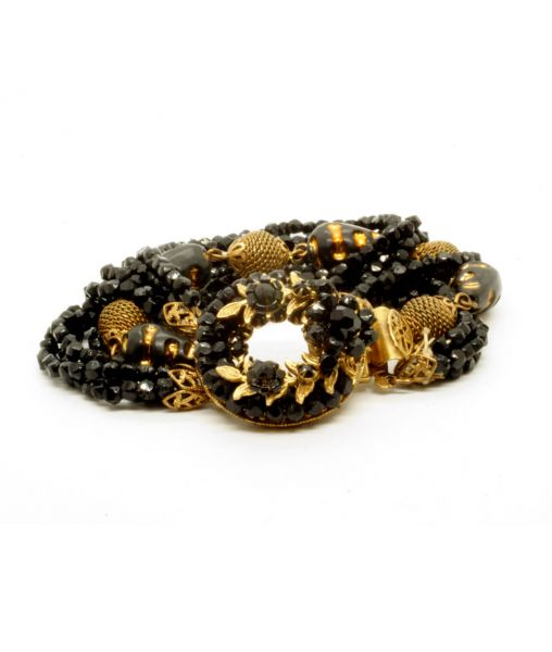 Robert Original black and gold bracelet